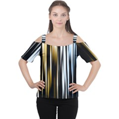 Digitally Created Striped Abstract Background Texture Women s Cutout Shoulder Tee