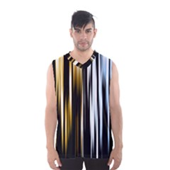 Digitally Created Striped Abstract Background Texture Men s Basketball Tank Top