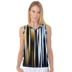 Digitally Created Striped Abstract Background Texture Women s Basketball Tank Top