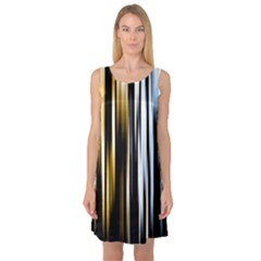 Digitally Created Striped Abstract Background Texture Sleeveless Satin Nightdress