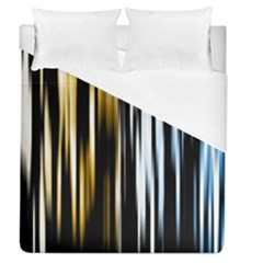 Digitally Created Striped Abstract Background Texture Duvet Cover (Queen Size)