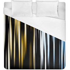 Digitally Created Striped Abstract Background Texture Duvet Cover (King Size)