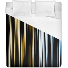 Digitally Created Striped Abstract Background Texture Duvet Cover (California King Size)