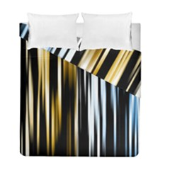Digitally Created Striped Abstract Background Texture Duvet Cover Double Side (Full/ Double Size)