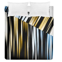 Digitally Created Striped Abstract Background Texture Duvet Cover Double Side (Queen Size)