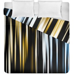 Digitally Created Striped Abstract Background Texture Duvet Cover Double Side (King Size)