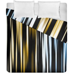 Digitally Created Striped Abstract Background Texture Duvet Cover Double Side (California King Size)