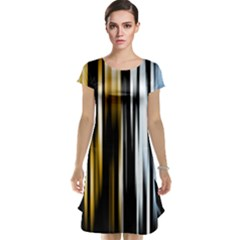 Digitally Created Striped Abstract Background Texture Cap Sleeve Nightdress
