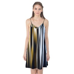Digitally Created Striped Abstract Background Texture Camis Nightgown