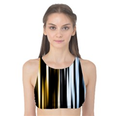 Digitally Created Striped Abstract Background Texture Tank Bikini Top