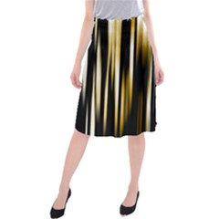 Digitally Created Striped Abstract Background Texture Midi Beach Skirt