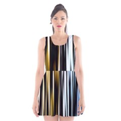 Digitally Created Striped Abstract Background Texture Scoop Neck Skater Dress