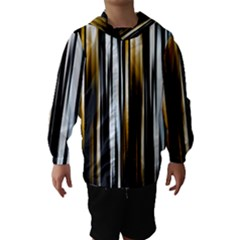 Digitally Created Striped Abstract Background Texture Hooded Wind Breaker (Kids)