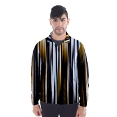 Digitally Created Striped Abstract Background Texture Wind Breaker (Men)