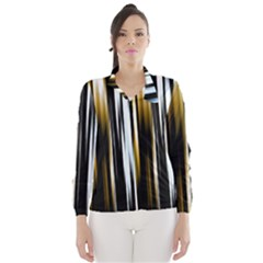 Digitally Created Striped Abstract Background Texture Wind Breaker (Women)