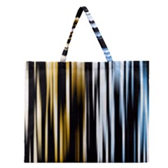 Digitally Created Striped Abstract Background Texture Zipper Large Tote Bag