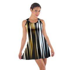 Digitally Created Striped Abstract Background Texture Cotton Racerback Dress