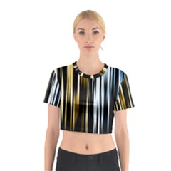 Digitally Created Striped Abstract Background Texture Cotton Crop Top