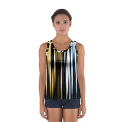 Digitally Created Striped Abstract Background Texture Women s Sport Tank Top