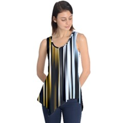 Digitally Created Striped Abstract Background Texture Sleeveless Tunic
