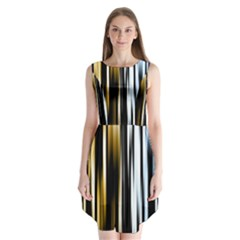 Digitally Created Striped Abstract Background Texture Sleeveless Chiffon Dress