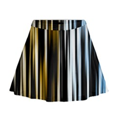 Digitally Created Striped Abstract Background Texture Mini Flare Skirt