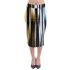 Digitally Created Striped Abstract Background Texture Midi Pencil Skirt