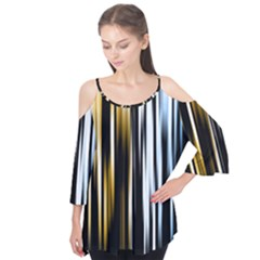Digitally Created Striped Abstract Background Texture Flutter Tees