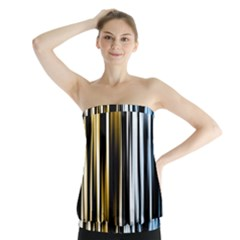 Digitally Created Striped Abstract Background Texture Strapless Top