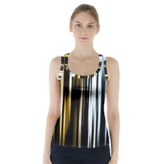 Digitally Created Striped Abstract Background Texture Racer Back Sports Top