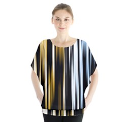 Digitally Created Striped Abstract Background Texture Blouse