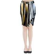 Digitally Created Striped Abstract Background Texture Midi Wrap Pencil Skirt