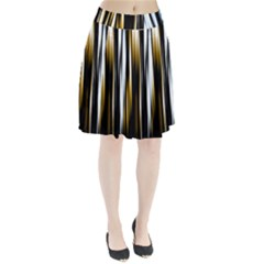 Digitally Created Striped Abstract Background Texture Pleated Skirt