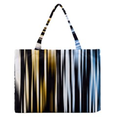 Digitally Created Striped Abstract Background Texture Medium Zipper Tote Bag