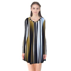 Digitally Created Striped Abstract Background Texture Flare Dress