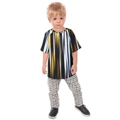 Digitally Created Striped Abstract Background Texture Kids  Raglan Tee