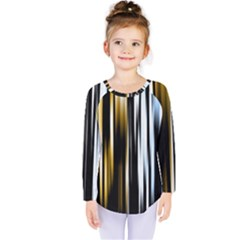 Digitally Created Striped Abstract Background Texture Kids  Long Sleeve Tee