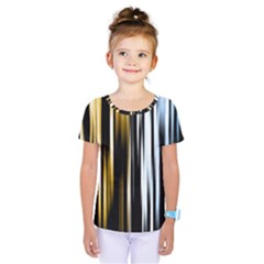 Digitally Created Striped Abstract Background Texture Kids  One Piece Tee