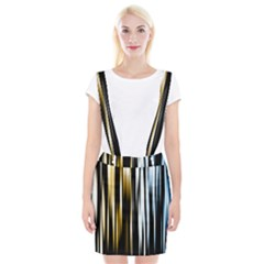 Digitally Created Striped Abstract Background Texture Suspender Skirt