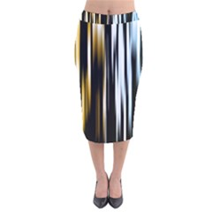 Digitally Created Striped Abstract Background Texture Velvet Midi Pencil Skirt