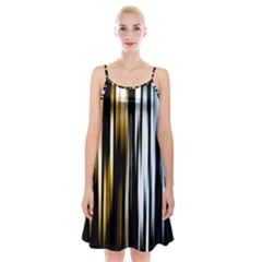 Digitally Created Striped Abstract Background Texture Spaghetti Strap Velvet Dress