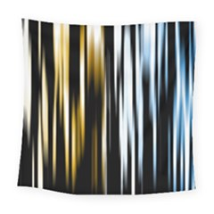 Digitally Created Striped Abstract Background Texture Square Tapestry (Large)