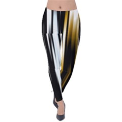 Digitally Created Striped Abstract Background Texture Velvet Leggings