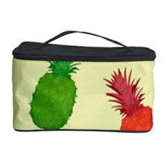 Colorful Pineapples Wallpaper Background Cosmetic Storage Case by Simbadda