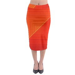Abstract Clutter Baffled Field Midi Pencil Skirt