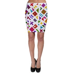 A Colorful Modern Illustration For Lovers Bodycon Skirt
