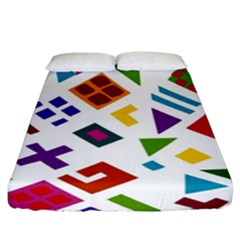 A Colorful Modern Illustration For Lovers Fitted Sheet (king Size)