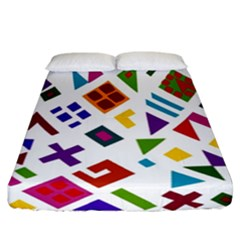 A Colorful Modern Illustration For Lovers Fitted Sheet (california King Size) by Simbadda