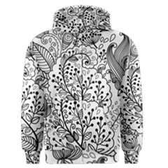 Black Abstract Floral Background Men s Zipper Hoodie