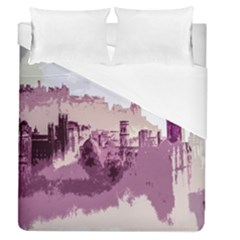 Abstract Painting Edinburgh Capital Of Scotland Duvet Cover (queen Size) by Simbadda